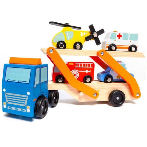 Camión de Emergencia con Vehículos