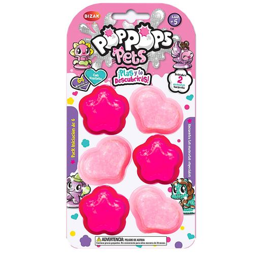 Pop Pops Pets Pack Starter de 6