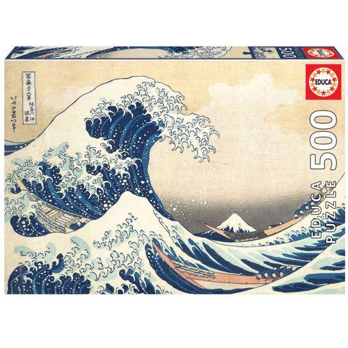 Puzzle Gran Ola de Kanagawa 500 Piezas