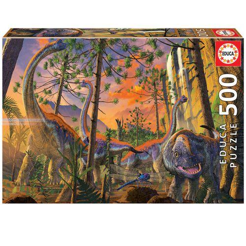Puzzle Curious Vincent Hie Dinosaurios 500 Piezas