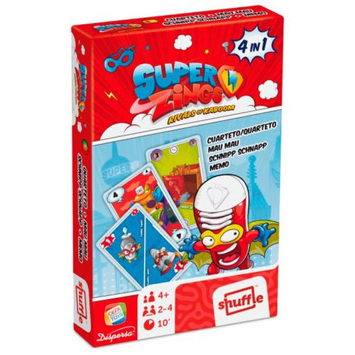 Superthings Juego Cartas 4 en 1