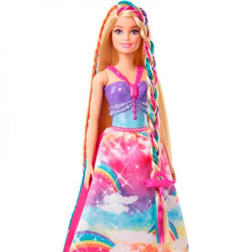 Barbie Dreamtopia Princesa Trenzas de Colores