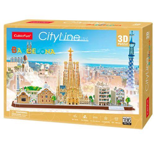City Line Puzzle 3D Barcelona