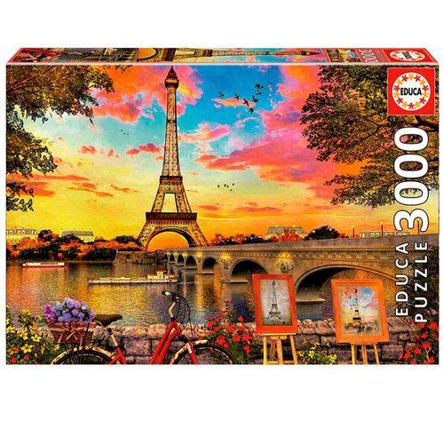 Puzzle 3000 Piezas Puesta de Sol en París