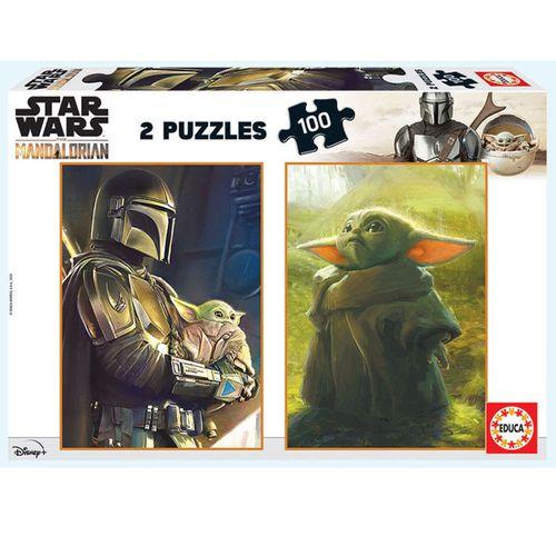 Star Wars Mandalorian Puzzle 2x100 Piezas