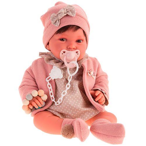 Muñeca Pipa Recién Nacido Chaqueta Rosa