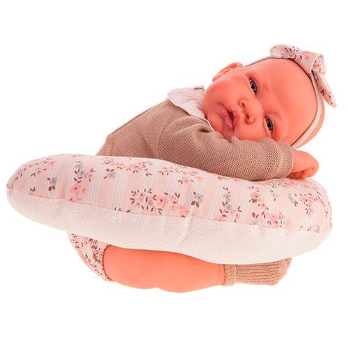 Recién Nacida con Cojín de Lactancia Muñeca Bebé