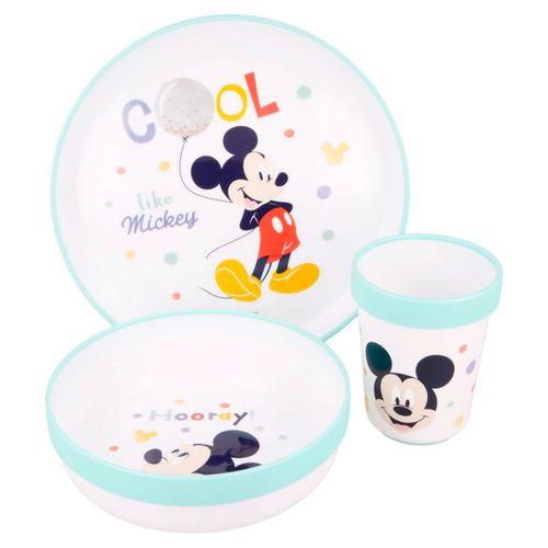 Mickey Mouse Vajilla 3 Piezas Antideslizante