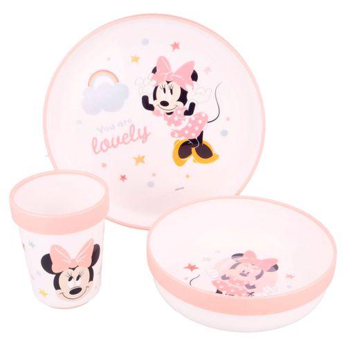 Minnie Mouse Vajilla 3 Piezas Antideslizante
