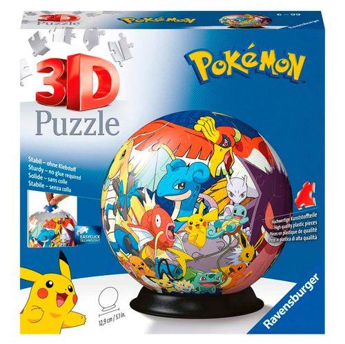 Pokémon Puzzle Bola 3D 72 Piezas