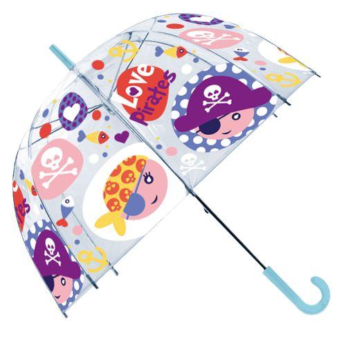 Paraguas Transparente Piratas Manual