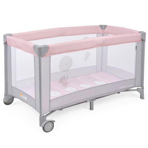 Cuna de Viaje Bebé Basic Rosa