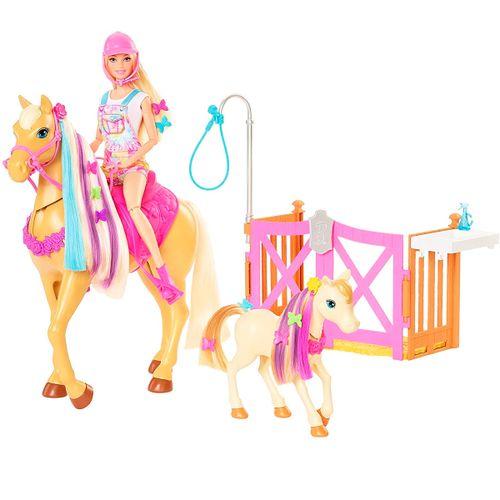 Barbie Cepilla y Cuida Caballo y Poni