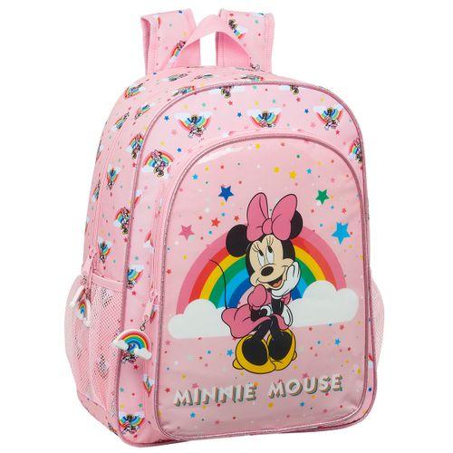 Minnie Mouse Rainbow Mochila Adaptable