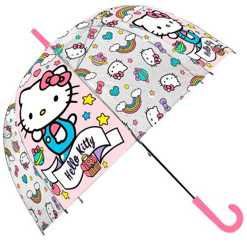 Hello Kitty Paraguas Transparente Automático
