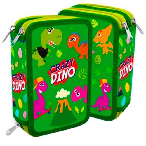 Estuche Infantil Triple Crazy Dino
