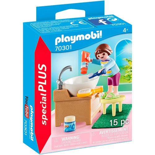 Playmobil Special Plus Niña con Lavabo