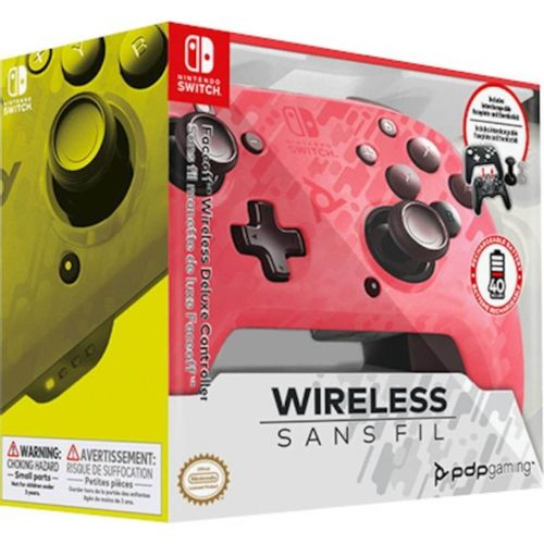 Faceoff Wireless Deluxe Controller Camo Rosa Switch/Lite
