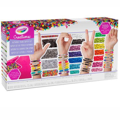 Crayola Creations Super Kit de Cuentas con Letras