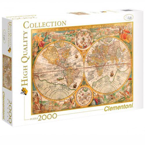Puzzle 2000 Piezas Mapa Antiguo Mundo