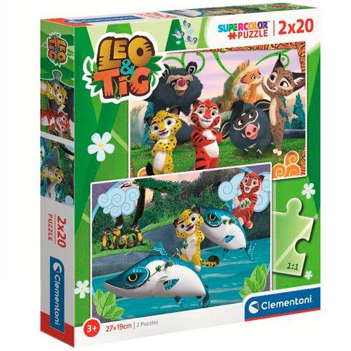 Leo & Tig Puzzle 2x20 Piezas
