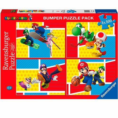 Super Mario Puzzles 4x100 Piezas