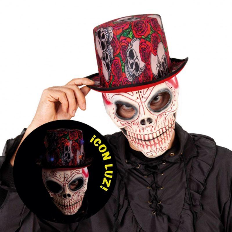 Sombrero-de-Copa-Skull-con-Luz