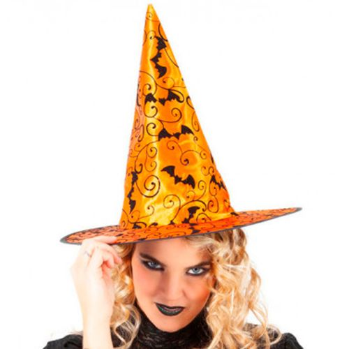 Sombrero Bruja Cool Naranja