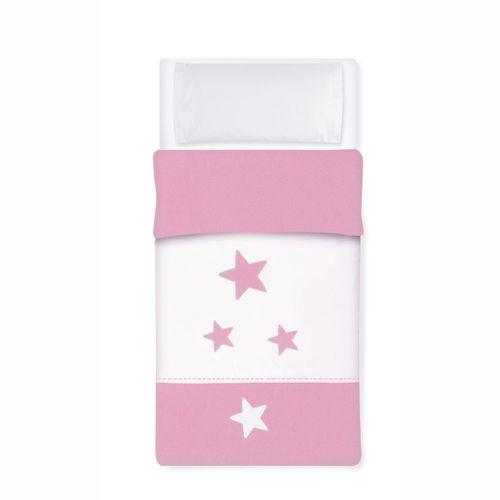 Saco Nórdico para cuna 60x120 Estrella Rosa