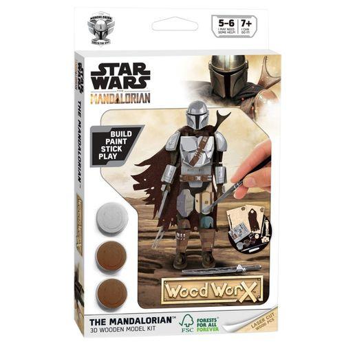 Star Wars Mandalorian Pack Madera Mando