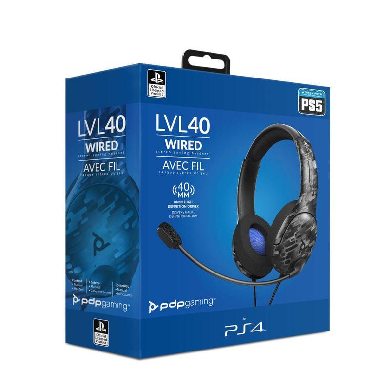 LVL40-Wired-Negro-Camo-Auricular-Gaming-Licenciado--PS4-5-