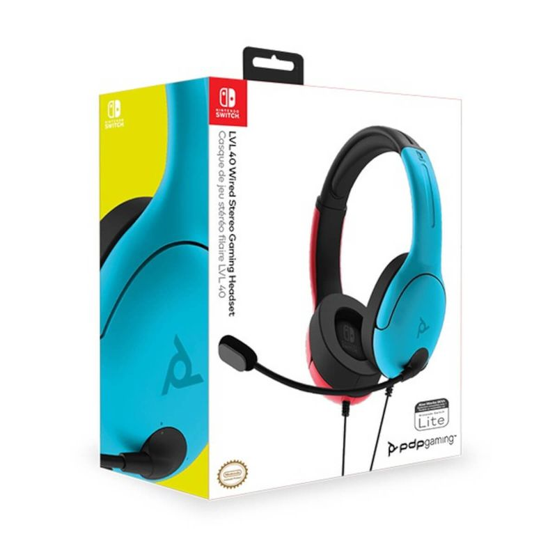 LVL40-Wired-Azul-y-Rojo-Auricular-Gaming-Licenciado
