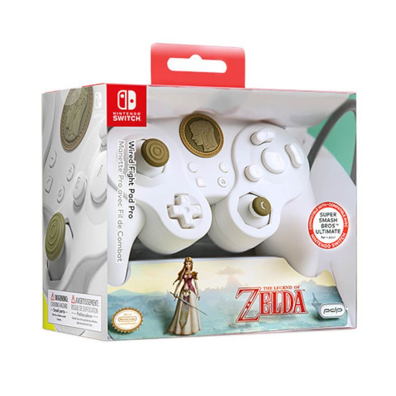 Wired-Fight-Pad-Pro-Controller-Blanco-Zelda-Special-Lic