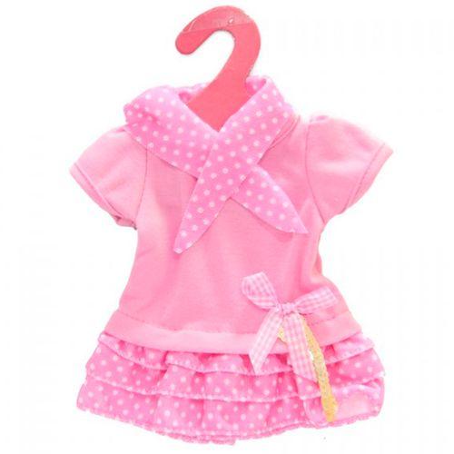 Conjunto Ropa Muñeco Bebé Vestido Lunares